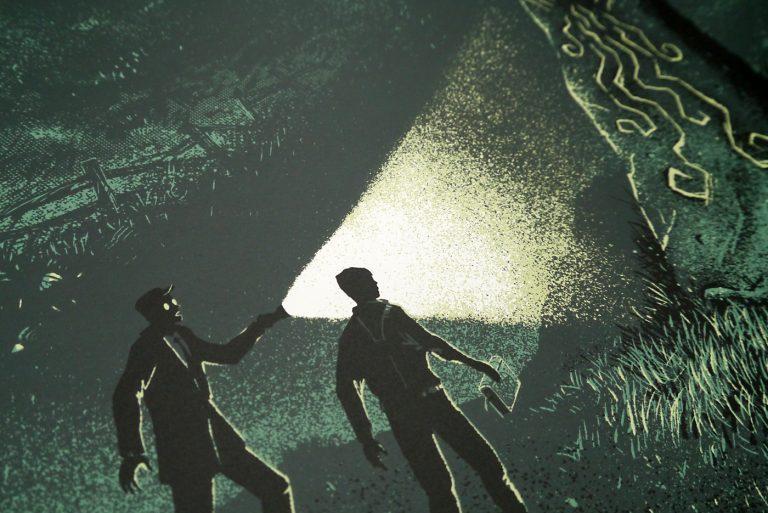 HP Lovecraft Literary Podcast 10th Anniversary Screenprint