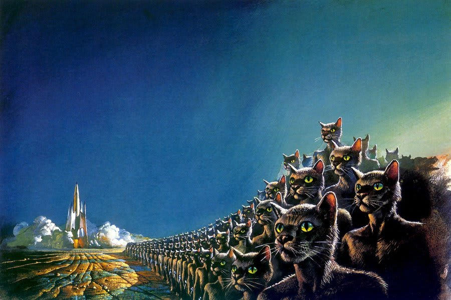 Bruce Pennington Space Cats Painting