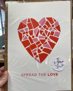 Spread the Love Screen Print Seagulls LifeHouse Kirkstall Leeds